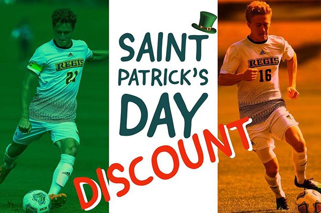 """Because we love St Patrick's Day, we are excited to announce 10% off from now to Sunday. Just use promo code """"STPADDY"""" at checkout to receive your discount. Link in the bio! . . #RSA2019 . . ————— . #youthsoccer #soccer #football #adidas #youthfootball #soccertraining #skills #soccerlife #soccerskills #futbol  #regissoccer #tekkers #youthsports #regisrangers #training #soccercamp #soccermom #soccercoach #photooftheday #fifa #worldcup"""