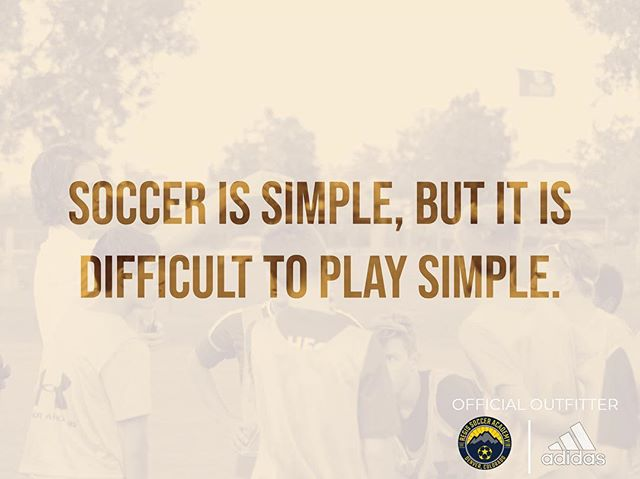 Soccer is simple, but it is difficult to play simple -Johan Cruyff . . #RSA2019 . . ————— . #youthsoccer #soccer #football #adidas #youthfootball #soccertraining #skills #soccerlife #soccerskills #futbol  #regissoccer #tekkers #youthsports #regisrangers #training #soccercamp #soccermom #soccercoach #photooftheday #fifa #worldcup