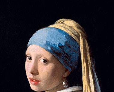 Instead of cropping her at the upper arm (like Vermeer intended), I cropped her at the neck. It doesn't look so good, does it? Johannes Vermeer, Girl With A Pearl Earring, oil on canvas, 1665, Mauritshuis, The Hague.