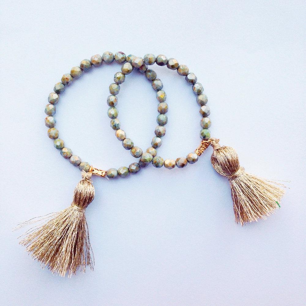 The Tiny Tassel St. Margaret Tassel Bracelet $16 @thetinytassel // thetinytassel.com