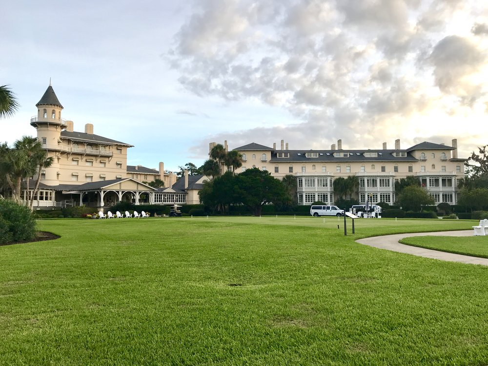 Front lawn of Jekyll Island Club grounds
