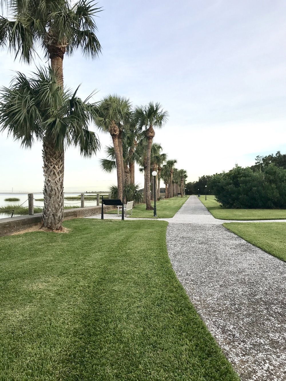 View of riverside walkway, Jekyll Island Club