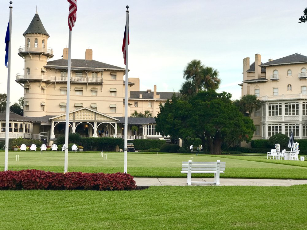 Front lawn of Jekyll Island Club as it is today.