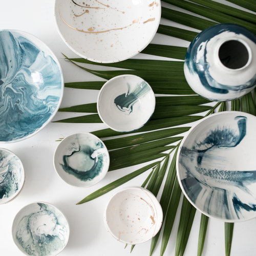Tin Tin's Pieces by Kristin Gaudio Endsley Small Wave Bowl, $35  @tintinspieces  //  kristingaudioengsley.com