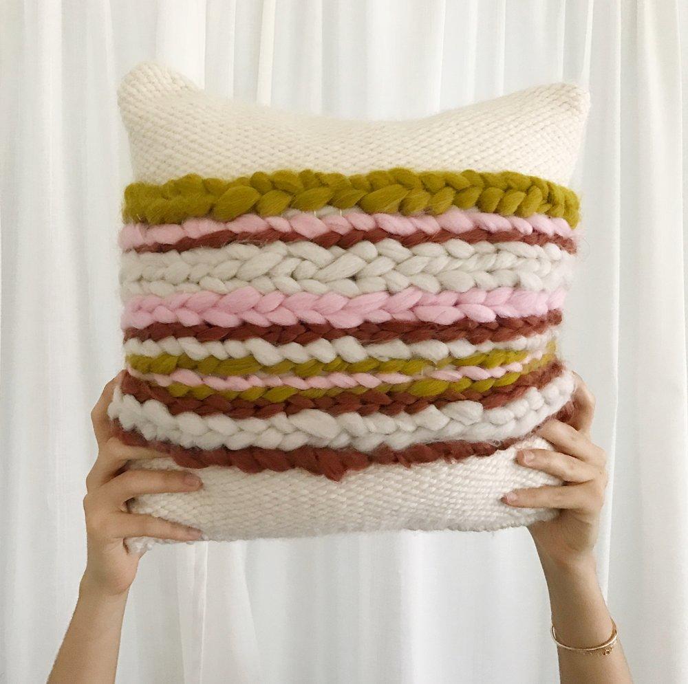 Pillows by Sunwoven, $85 and up  @sunwoven //  sunwovenstudio.com
