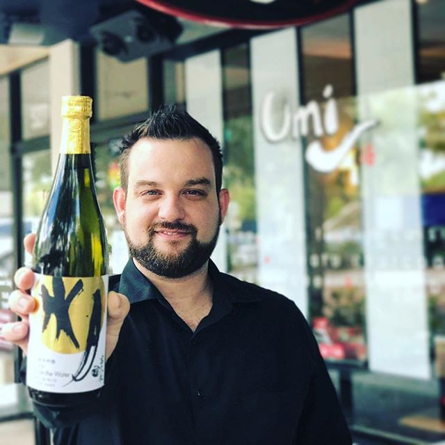 Meet our very own sommelier Blake Cain, who is thrilled to share his knowledge about our wine and sake! He also whips up the most delicious Happy Hour $6 sake sangrias around town! #UmiWinterPark #sake #sommelier #wineo #dinner #sangria #employeespotlight
