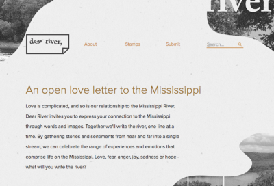 The Dear River website we created with mono and their 2013 summer interns.
