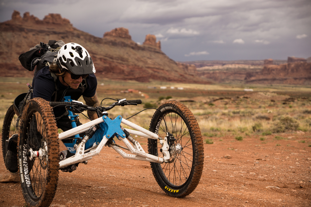 The first photo on the first day in Moab. BOOM! Circle-O Trail   Photo by Jeff Fox (  @foxonarock  )
