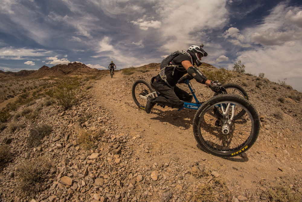 Bootleg Canyon, Boulder City, NV.Running tubeless for the first time! The guys at All Mountain Cyclery really took care of us. Thats Fucci (total shredder) behind me. Photo by Jeff Fox (@foxonarock)