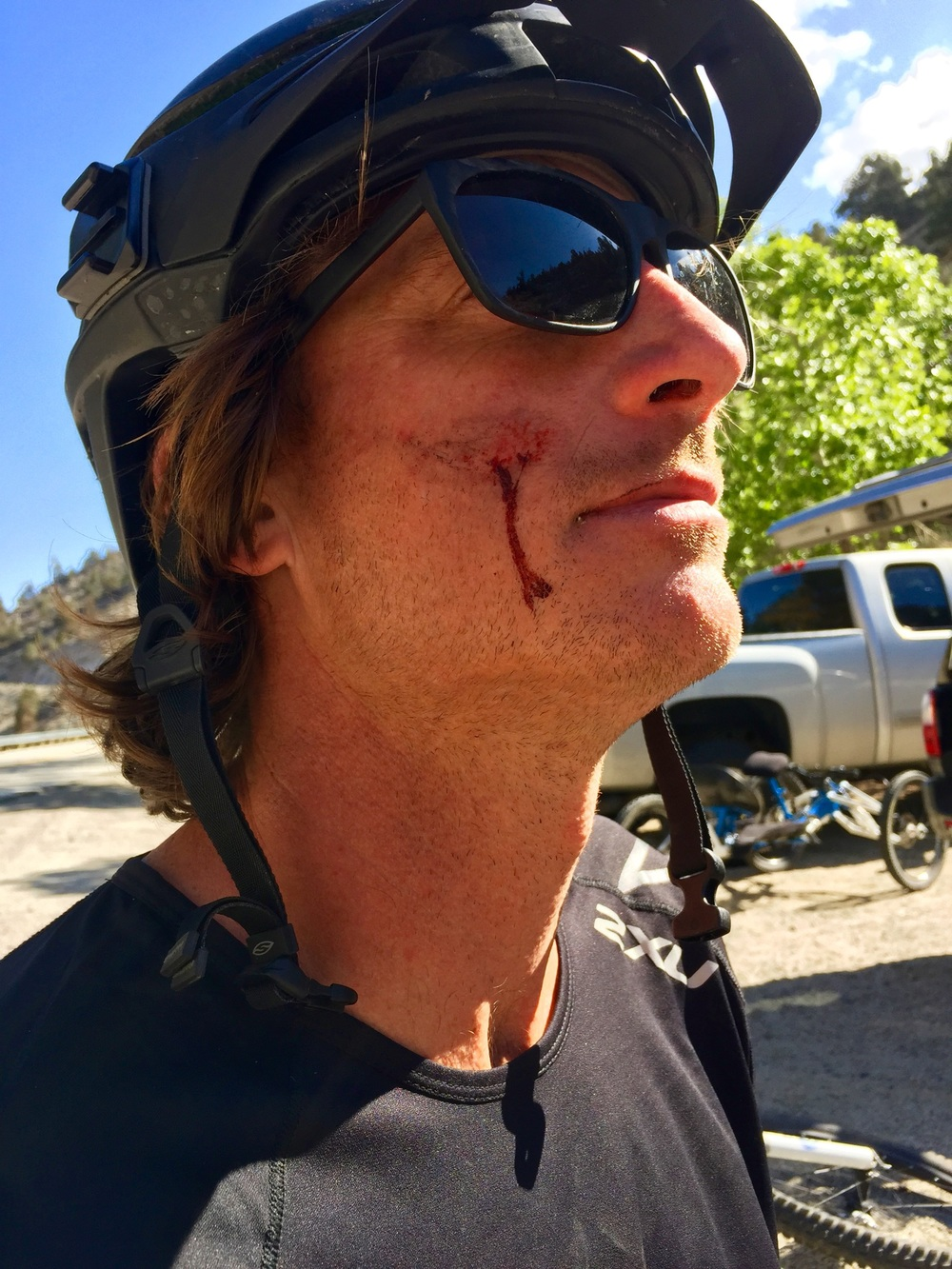 I may or may not have hit a tree.   Photo by Colin Farrell (  @oppcreative  )