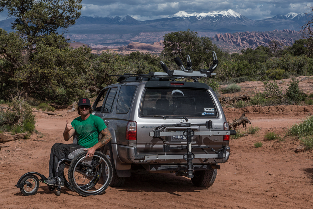 Pausing for a Free Wheel, Thule and Toyota advertisement. There ya go Pat! Photo by Jeff Fox (@foxonarock)
