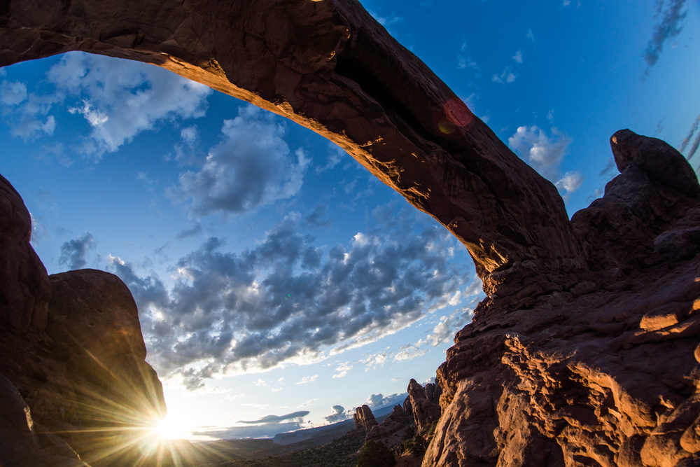 This should be a postcard! FOUR national parks in one day started with sunrise at the Arches. Felt the energy of this place.   Photo by Jeff Fox (  @foxonarock  )