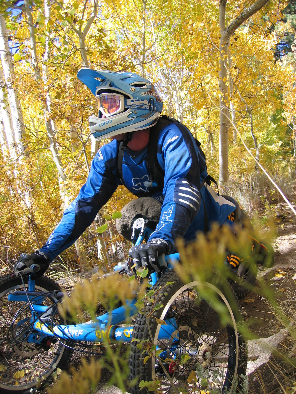 Who am i? Rigid bike with full face helmet? Bike #1
