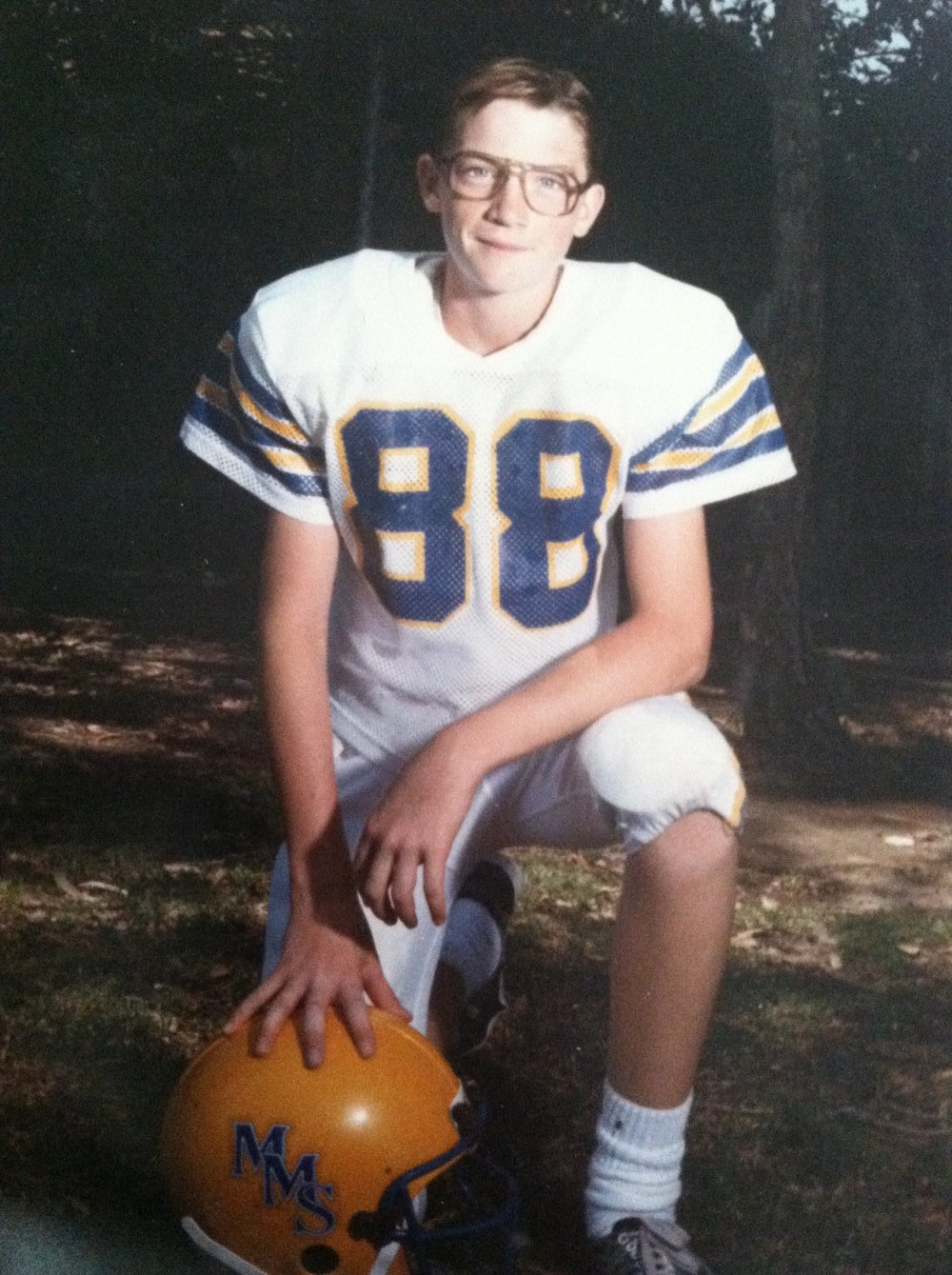 First year playing football at 12 years old. (I can't believe i shared this!)