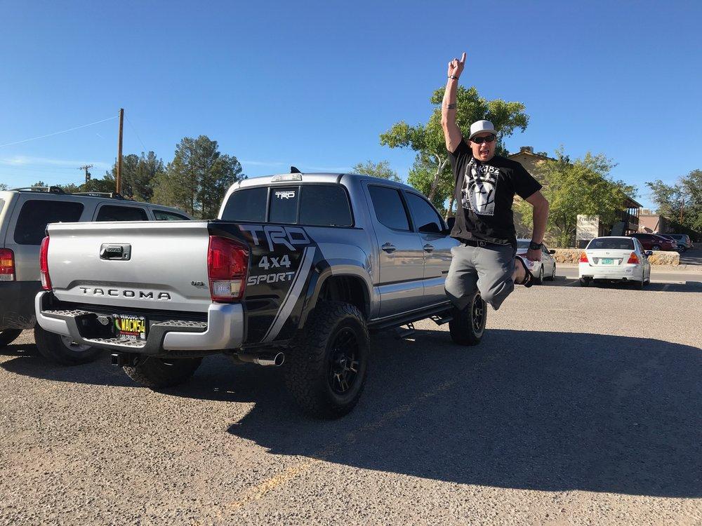 Little McGhee loves his truck!