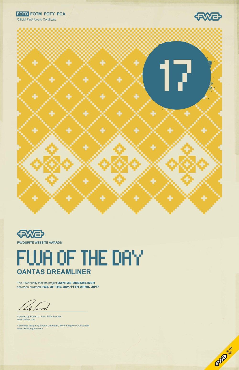 FWA SOTD -