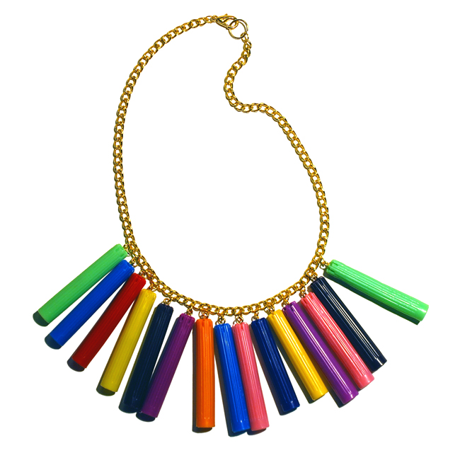 Plastic Seconds Felt Tip Pens Lids Necklace small.jpg