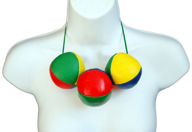 © Plastic Seconds Upcycled Juggling Balls Necklace.JPG