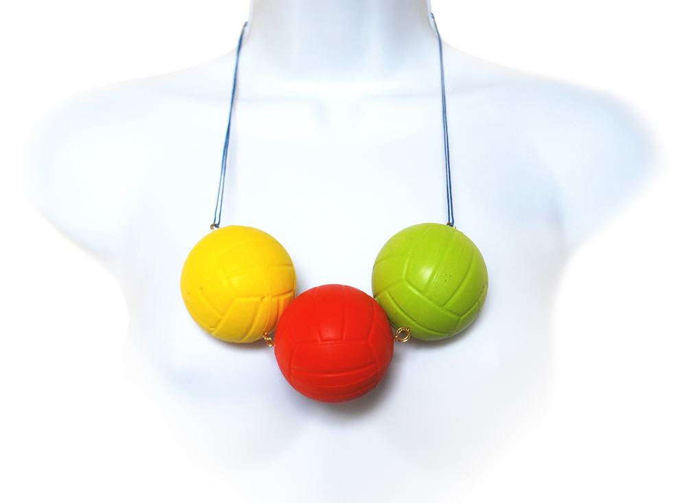 © Plastic Seconds Soft Balls Upcycled Necklace HIGH RES by Maria Papadimitriou.jpg