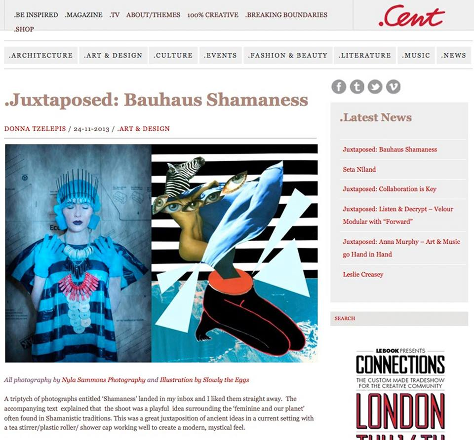 Plastic Seconds in   .Cent   Magazine  http://centmagazine.co.uk/juxtaposed-bauhaus-shamaness/9176