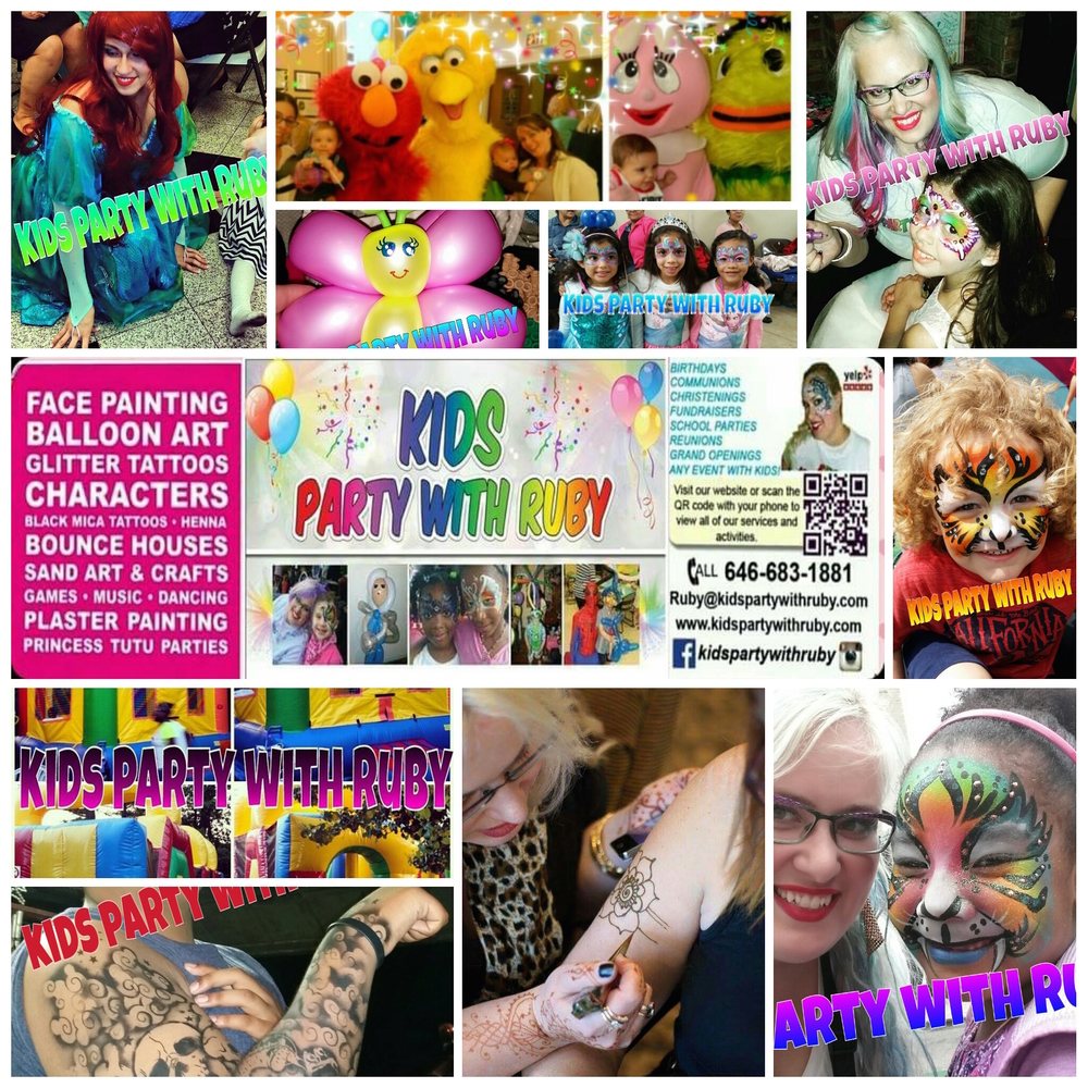 Kids Party With Ruby Party Entertainment Nyc Face Painter Balloon