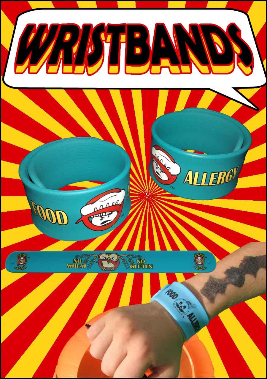 Allergy Superheroes Food Allergy Awareness Product Wristbands Slap Bands Bracelet