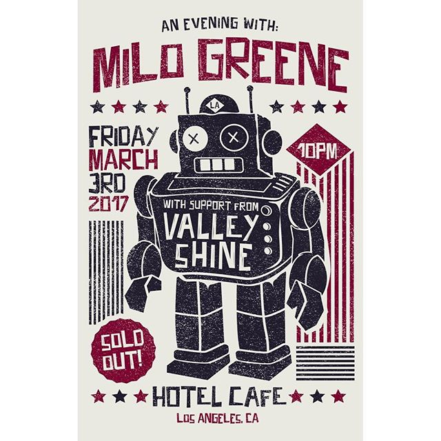 We're excited to announce that we will be supporting @milogreene at @thehotelcafe on Friday March 3rd!