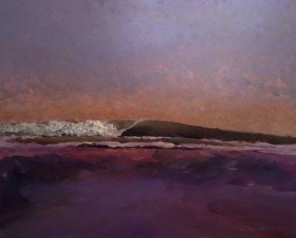 Coastal Sunset  30x24  acrylic on canvas