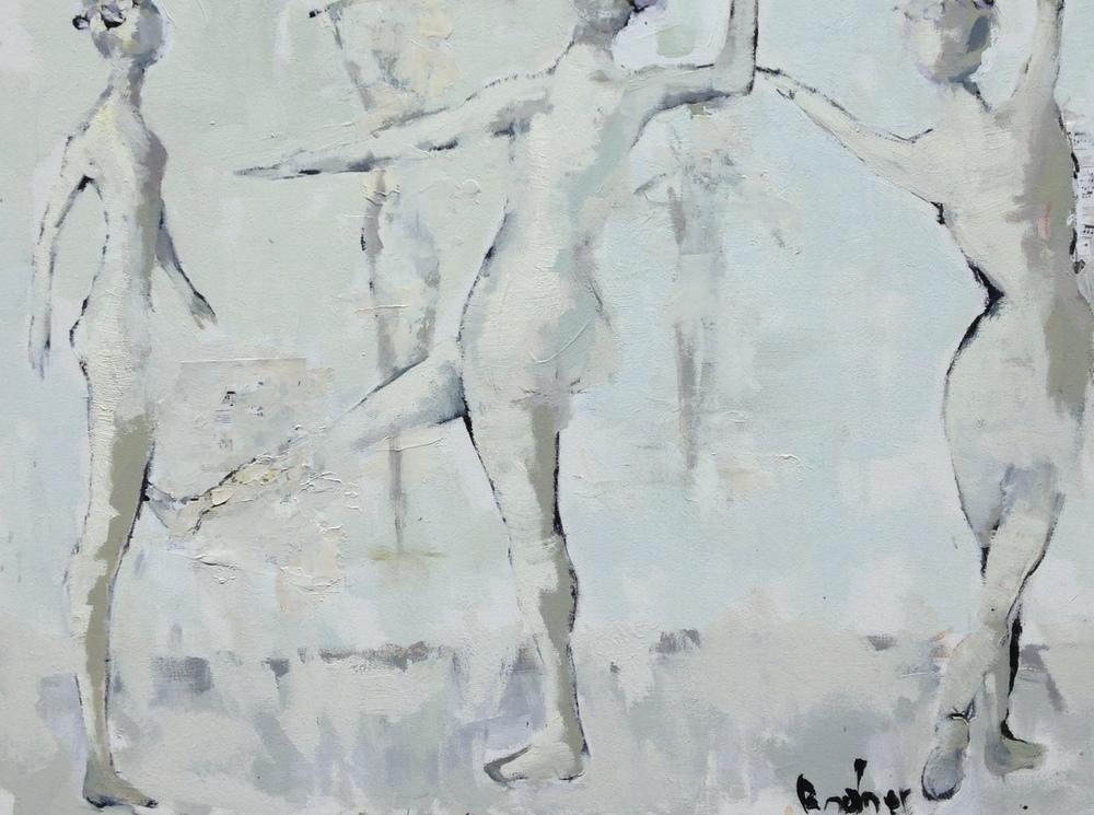 The Dancers 40x30 acrylic/oil on canvas