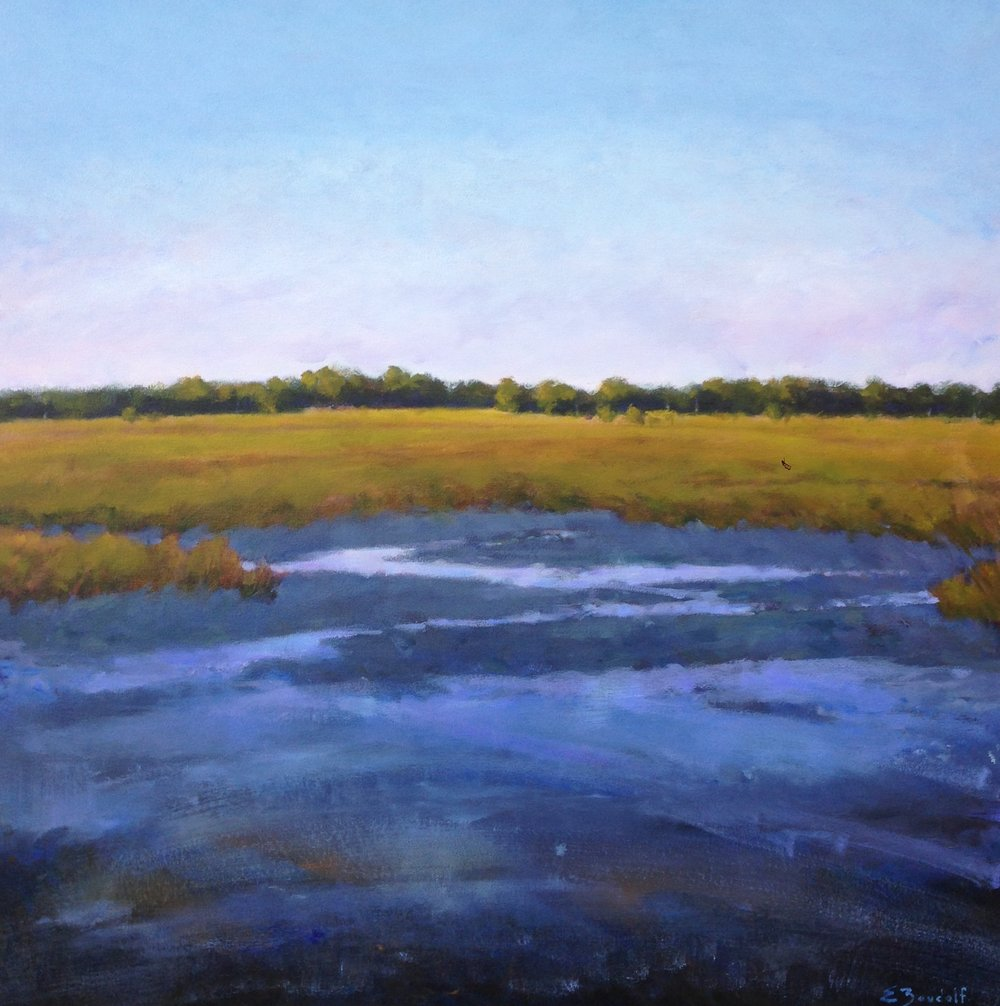 Lowcountry Tidal Creek  36x36  acrylic on canvas