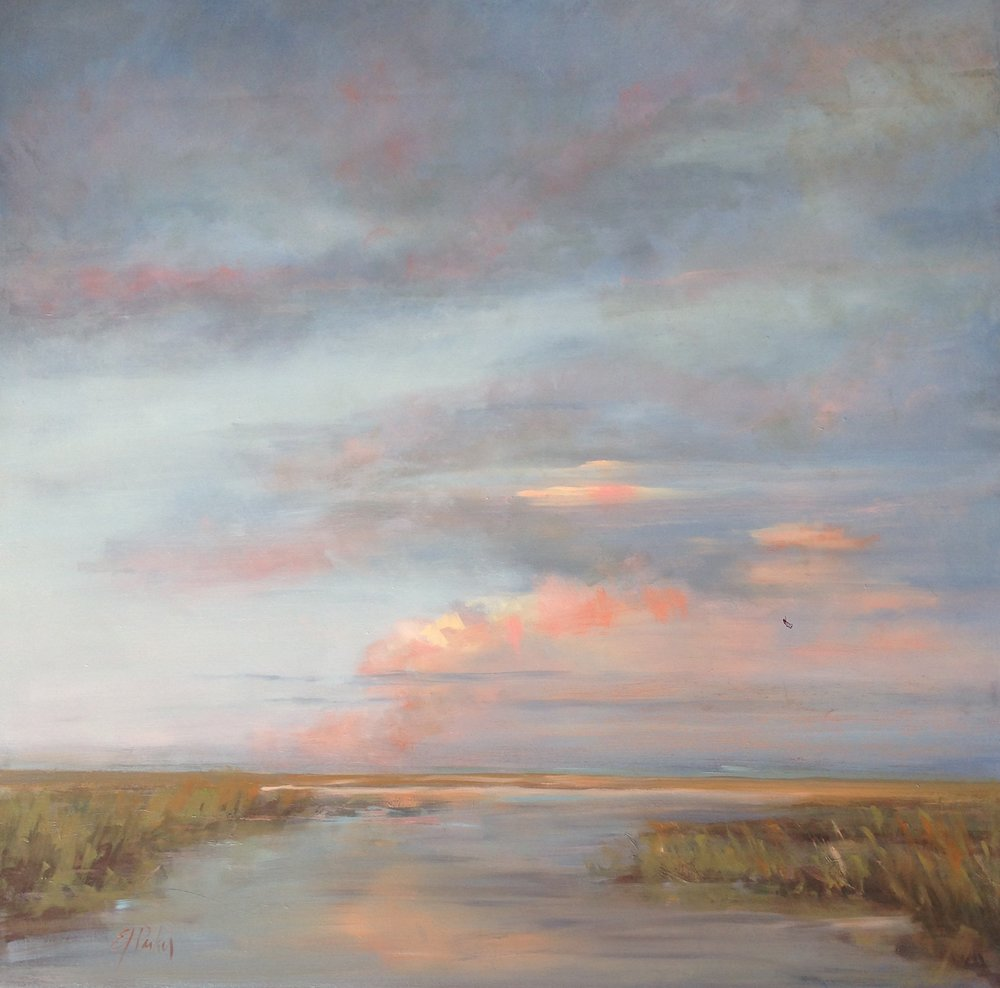 Tidal Creek Sunset  24x24 oil on board