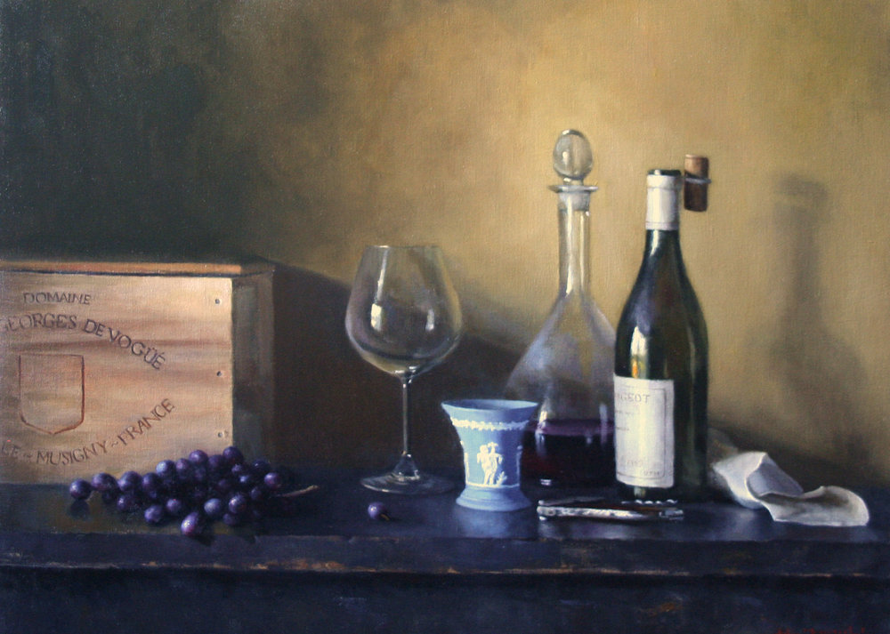 Wedgwood and Wine  22x30  oil on linen