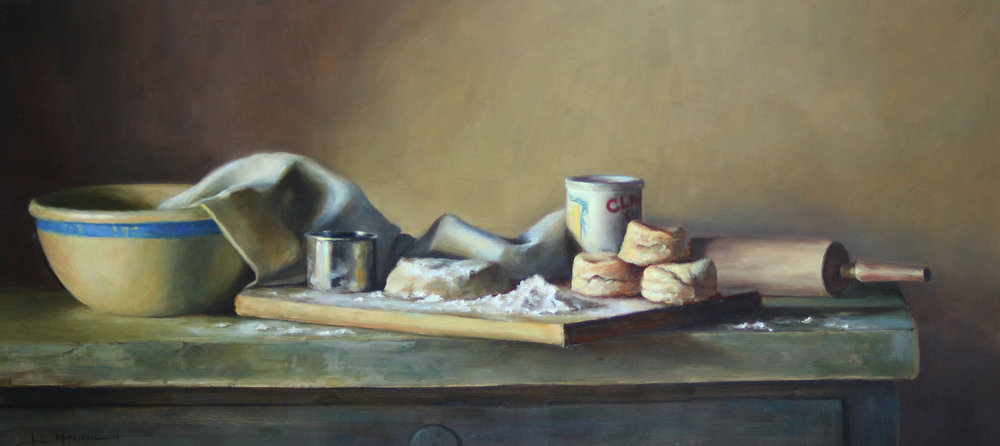 Homemade Biscuits  14x30  oil on linen
