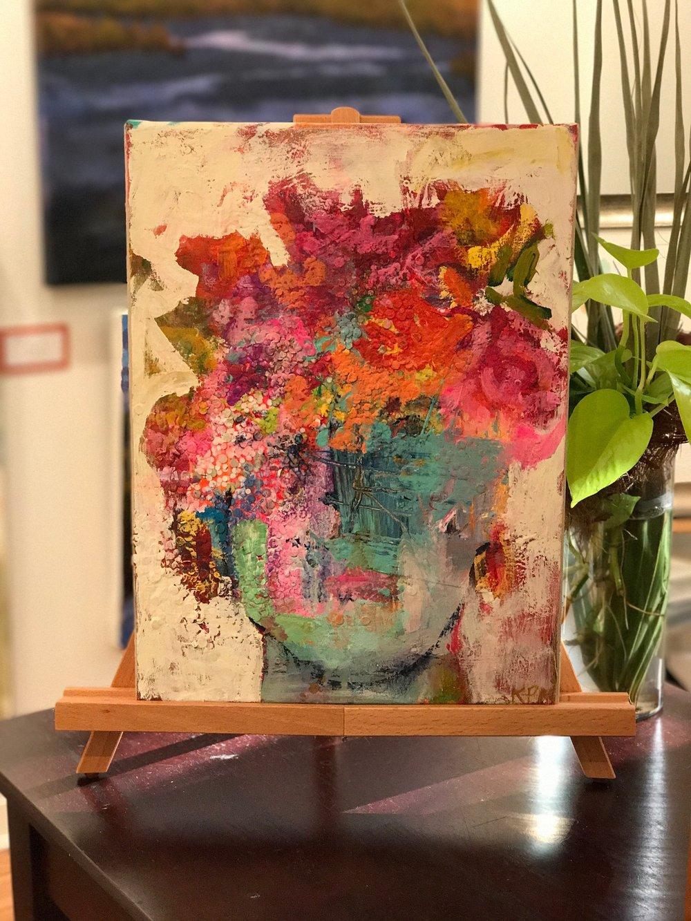 16x12 Crown of Blooms Page Morris, artist