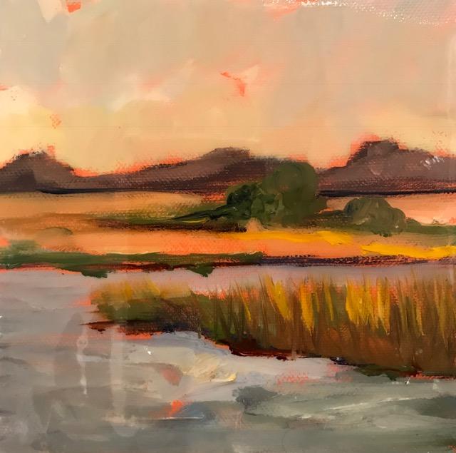 6x6 Sunset Cami Hutchinson, artist