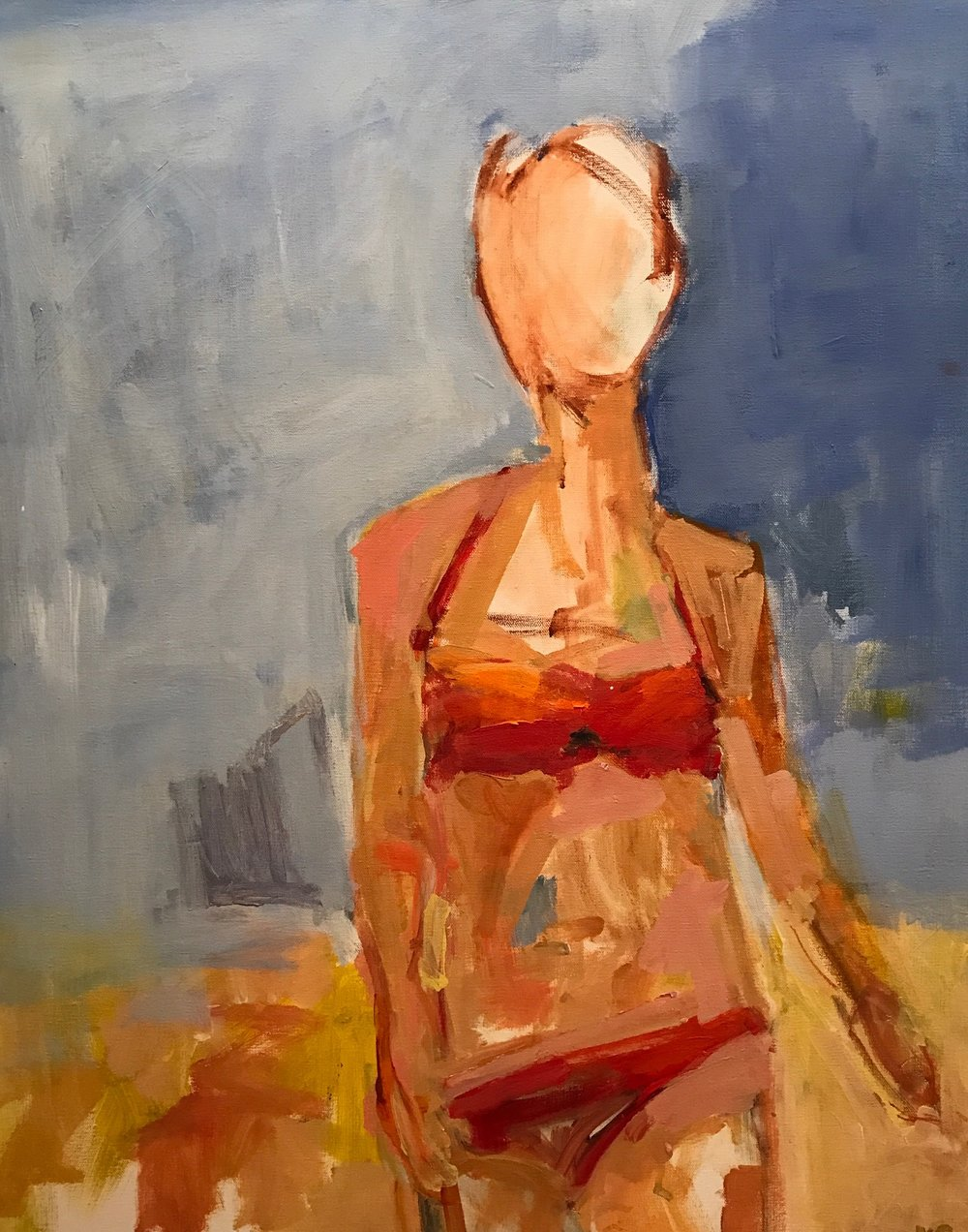 Beach Babe 3 30x24  acrylic on board