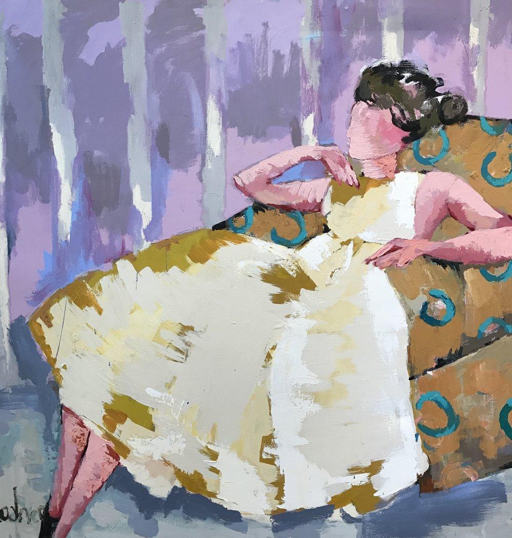 A Long Evening 48x48 acrylic/oil on canvas