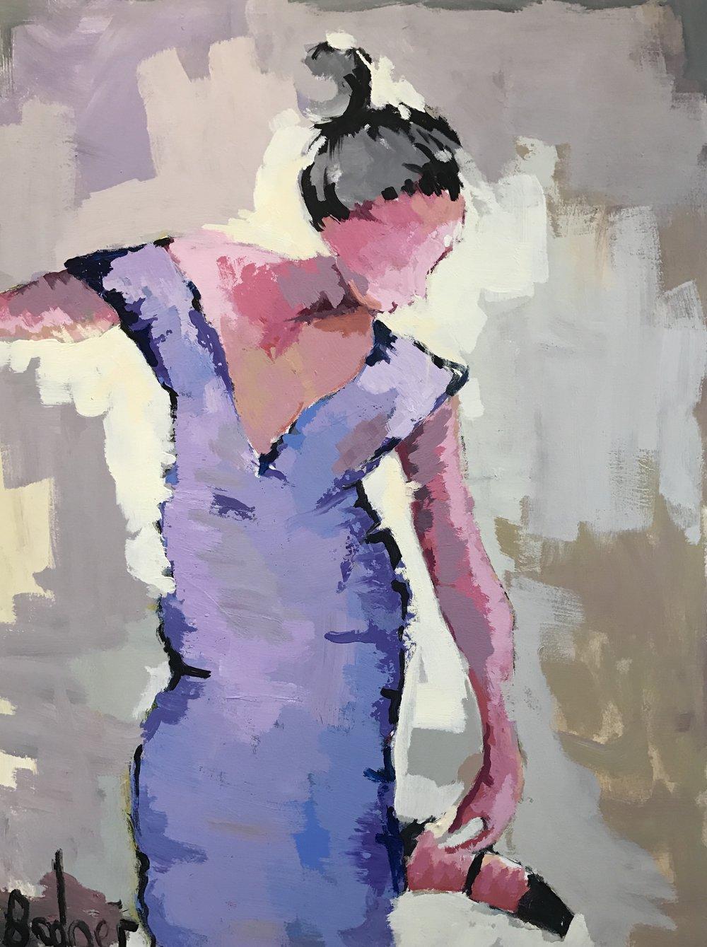 Lavender 48x36 acrylic/oil on canvas