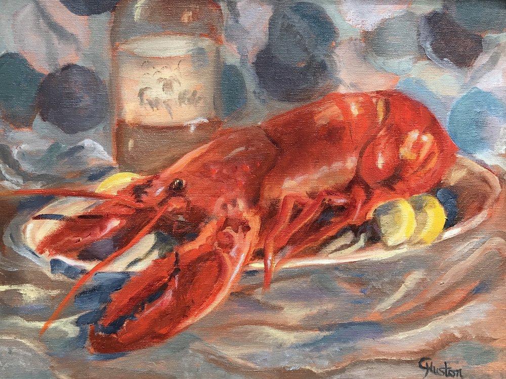- Two Pounda 11x14 oil on canvas