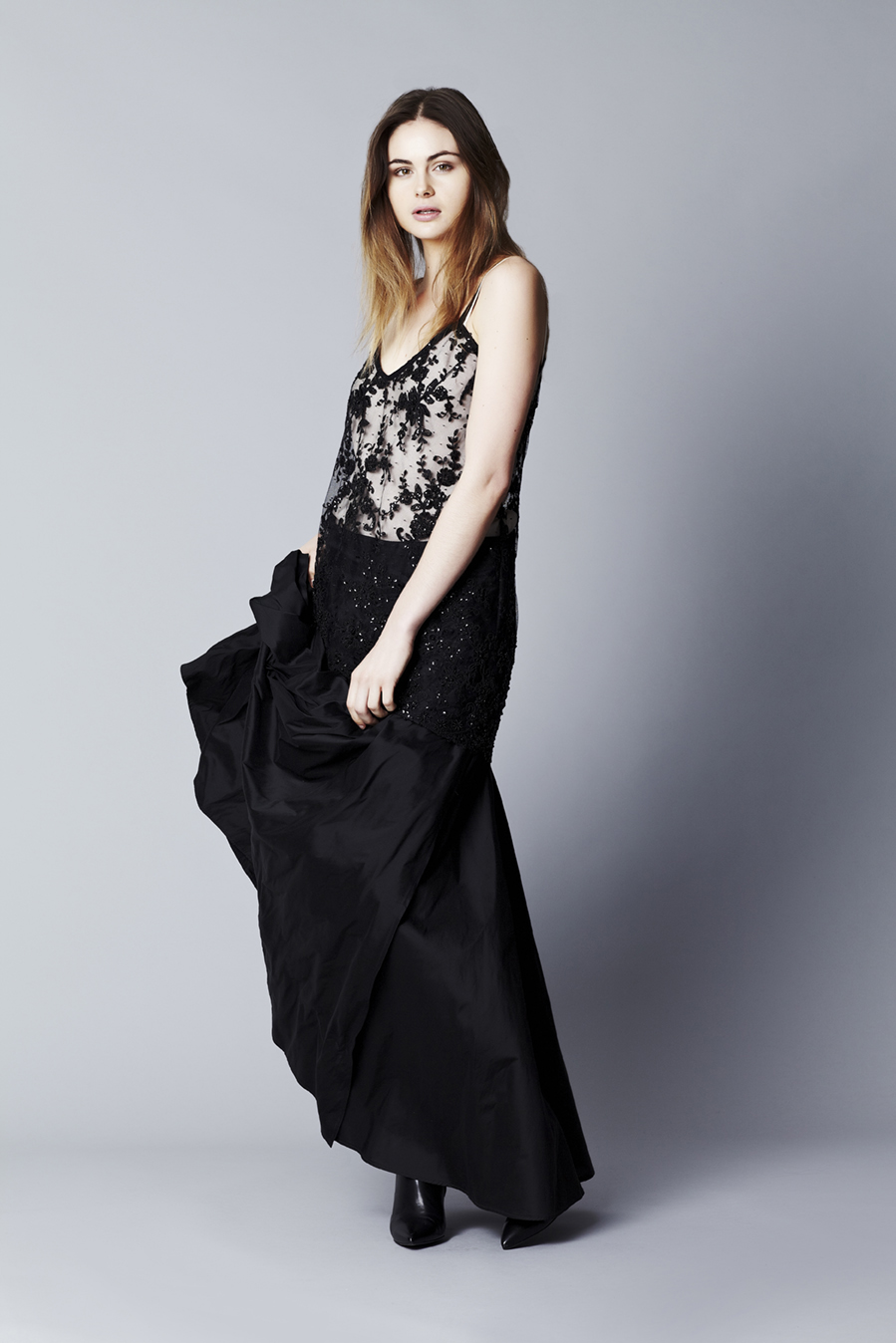 Sadie cami // Limited Edition Black Lace  Greta Garbo full circle skirt // Black