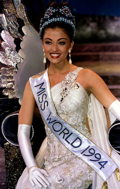 Aishwarya as the reigning Ms. World, 1994