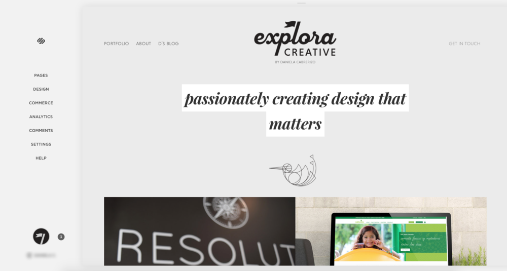 Example of a Squarespace CMS