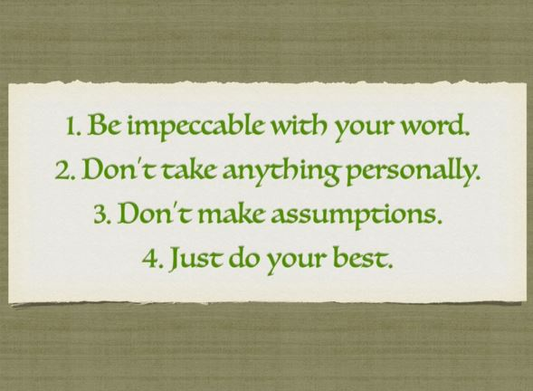 The Four Agreements Wholesome Balanced Wellness