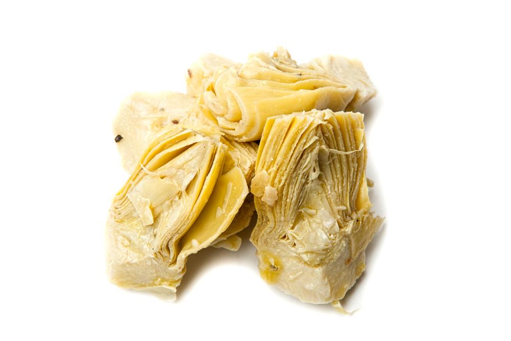ARTICHOKES Marinated Italian artichokes.