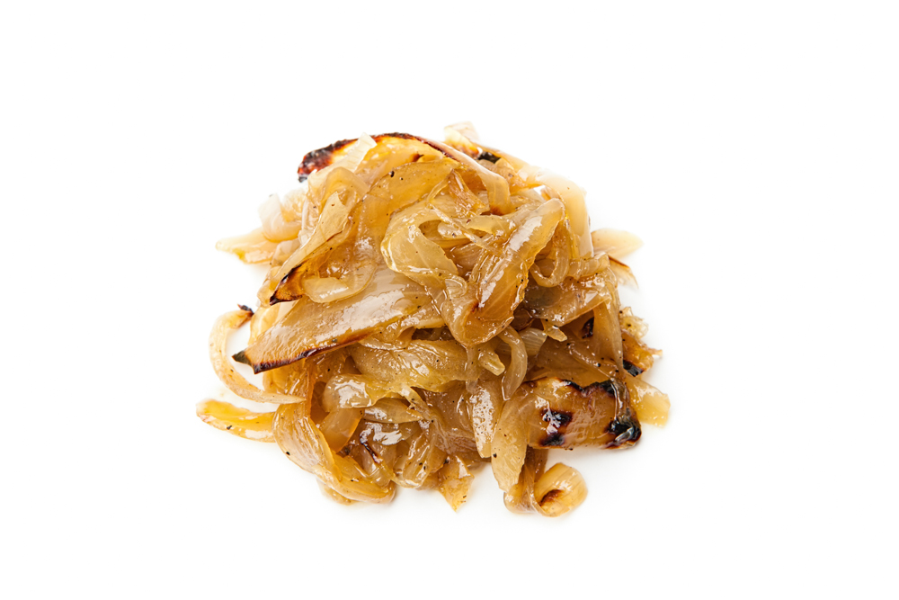 CARAMELIZED ONIONS Cooked slowly until sweet and smoky.