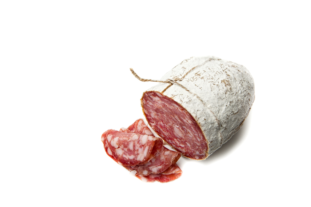 SALAMI  Fiorucci dry-cured natural pork.