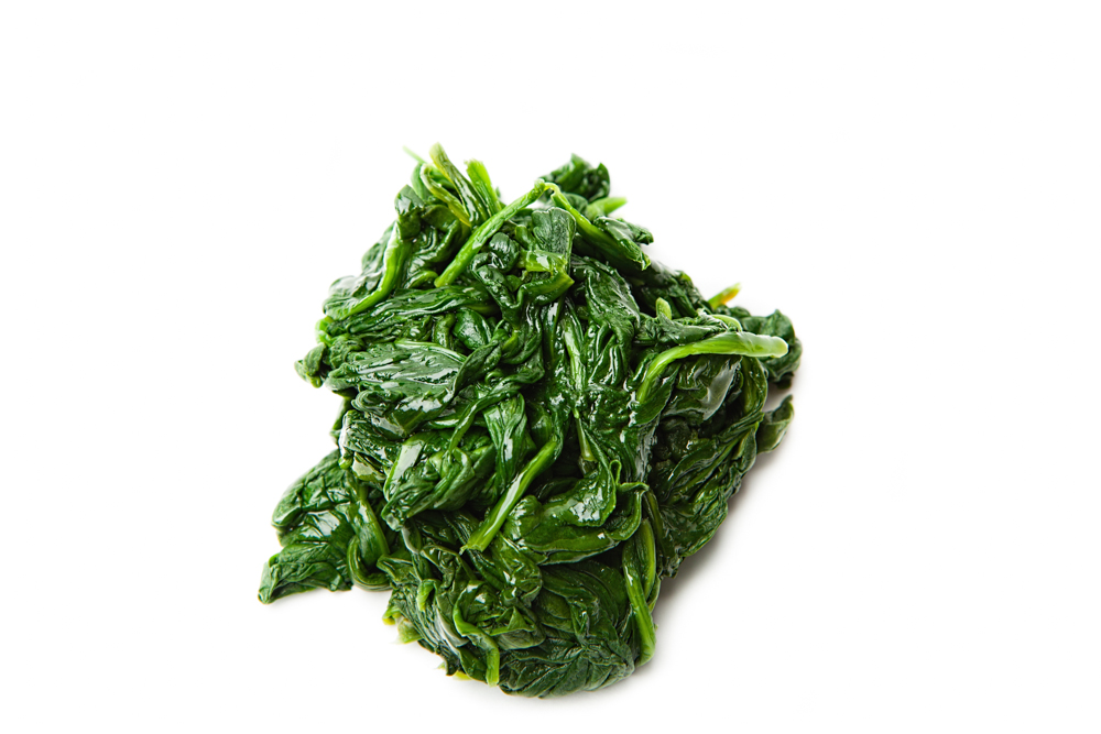 SPINACH  Lightly steamed.