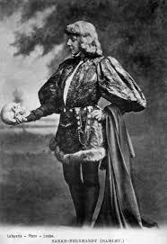 Portrait of Sarah Bernhardt as Hamlet;Lafayette Photo, London