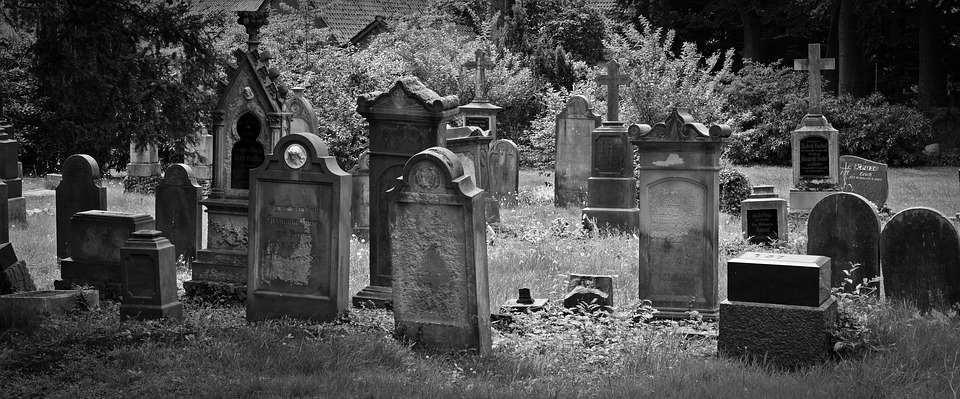 "Source: ""Cemetery Old Grave Stones"" by Bernswaelz, Pixabay"