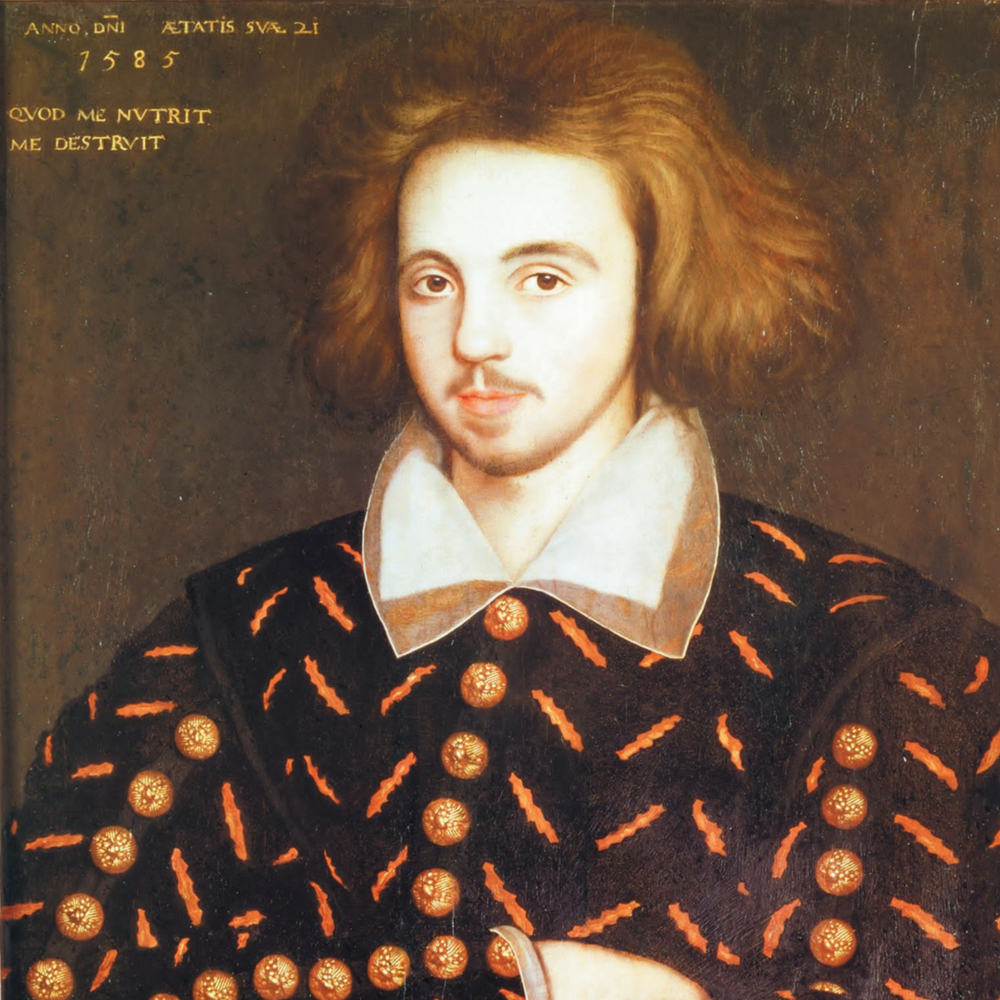 Christopher Marlowe Portrait, or Unknown 21-Year Old Man, Supposed to be Christopher Marlowe